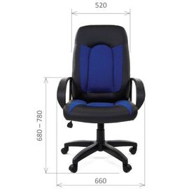 Компьютерное кресло для руководителя Chairman 429 Экопремиум, черный+ткань 20-23 серая, Цвет товара: Серый, изображение 3