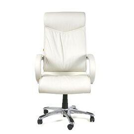Компьютерное кресло для руководителя Chairman 420 Натуральная кожа белого цвета, Цвет товара: Белый, изображение 2