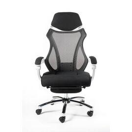 Кресло офисное Norden 007 / (black (white plastic) белый пластик / черная ткань / черная сетка, Цвет товара: Белый, изображение 2