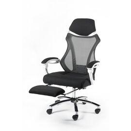 Кресло офисное Norden 007 / (black (white plastic) белый пластик / черная ткань / черная сетка, Цвет товара: Белый, изображение 3
