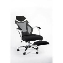 Кресло офисное Norden 007 / (black (white plastic) белый пластик / черная ткань / черная сетка, Цвет товара: Белый, изображение 4