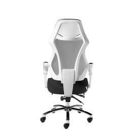 Кресло офисное Norden 007 / (black (white plastic) белый пластик / черная ткань / черная сетка, Цвет товара: Белый, изображение 5