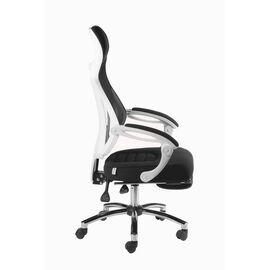 Кресло офисное Norden 007 / (black (white plastic) белый пластик / черная ткань / черная сетка, Цвет товара: Белый, изображение 7