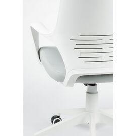 Кресло офисное Norden IQ / (white+grey) белый пластик / серая ткань, Цвет товара: Серый, изображение 5