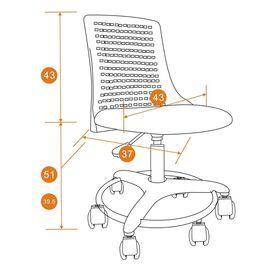 Компьютерное кресло Kiddy ткань, бирюзовый TetChair, Цвет товара: Бирюзовый, изображение 7