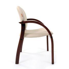 Офисное кресло для посетителей Chairman CH 659 Терра 101 беж матовый/темный орех, изображение 5