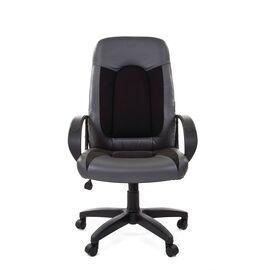 Компьютерное кресло для руководителя Chairman 429 Экопремиум, серый+ткань 10-356 черная, Цвет товара: Черный, изображение 4