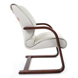 Офисное кресло для посетителей Chairman CH 445 WD кожа белая, Цвет товара: Белый, изображение 6