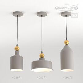 Подвес Bolli Серый Odeon Light, Цвет товара: Серый /Золотой, изображение 5
