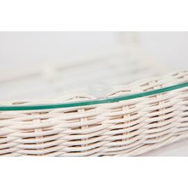 """Комплект для отдыха """"ANDREA"""" (диван + 2 кресла + журн. столик со стеклом + подушки) TetChair, Цвет товара: Белый, изображение 10"""