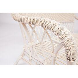 """Комплект для отдыха """"ANDREA"""" (диван + 2 кресла + журн. столик со стеклом + подушки) TetChair, Цвет товара: Белый, изображение 4"""