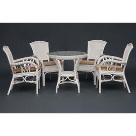 """Комплект обеденный """"ANDREA"""" ( стол + 4 кресла ) Белый TetChair, Цвет товара: Белый, изображение 4"""