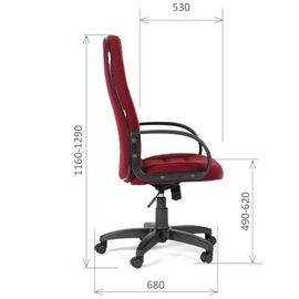 Компьютерное кресло для руководителя Chairman 727 CT Бордовый, Цвет товара: бордовый, изображение 3