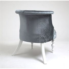 Кресло Бархат (эмаль белая / 25 - грязно-голубой) Red Black, Цвет товара: серо-голубой, изображение 3
