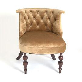 Кресло Бархат (темный тон / 5 - золото) Red Black, Цвет товара: Золото, изображение 3