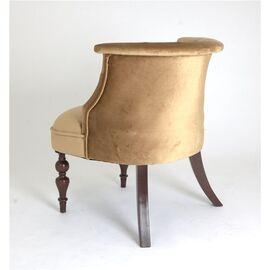 Кресло Бархат (темный тон / 5 - золото) Red Black, Цвет товара: Золото, изображение 4