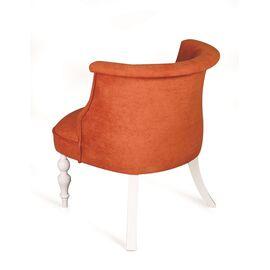 Кресло Бархат (эмаль белая / G08 - морковный) Red Black, Цвет товара: Оранжевый, изображение 2
