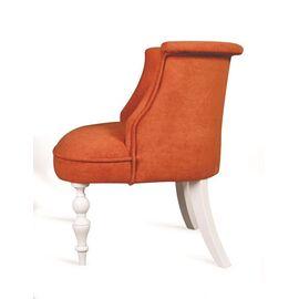Кресло Бархат (эмаль белая / G08 - морковный) Red Black, Цвет товара: Оранжевый, изображение 3