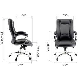 Компьютерное кресло для руководителя Everprof King M кожа черный, Цвет товара: Черный, изображение 4