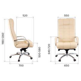 Компьютерное кресло для руководителя Everprof Atlant AL M кожа коричневый, Цвет товара: Коричневый, изображение 2