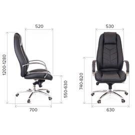 Компьютерное кресло для руководителя Everprof Drift Full AL M кожа коричневый, Цвет товара: Коричневый, изображение 2