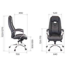 Компьютерное кресло для руководителя Everprof Drift M Кожа Коричневый, Цвет товара: Коричневый, изображение 2