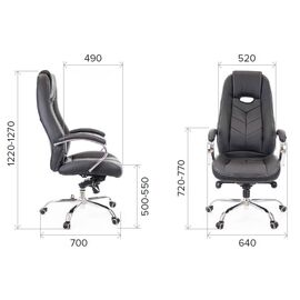 Компьютерное кресло для руководителя Everprof Drift M Кожа Бежевый, Цвет товара: Бежевый, изображение 2