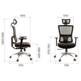 Компьютерное кресло для руководителя Everprof Everest S сетка серый, Цвет товара: Серый, изображение 2