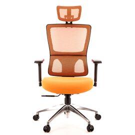 Компьютерное кресло для руководителя Everprof Everest S сетка оранжевый, Цвет товара: Оранжевый, изображение 3