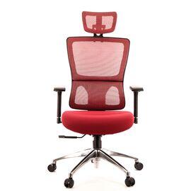 Компьютерное кресло для руководителя Everprof Everest S сетка бордовый, Цвет товара: бордовый, изображение 3
