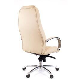 Компьютерное кресло для руководителя Everprof Drift Full AL M кожа бежевый, Цвет товара: Бежевый, изображение 3