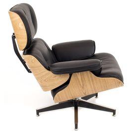 Кресло Relax с оттоманкой Everprof экокожа черный, изображение 3