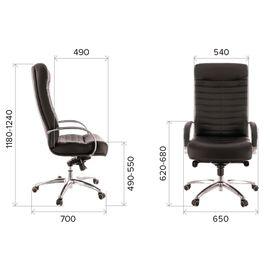 Компьютерное кресло для руководителя Everprof Orion AL M кожа черный, изображение 2