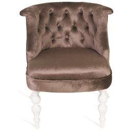 Кресло Бархат (эмаль белая / 15 - коричневый) Red Black, изображение 3