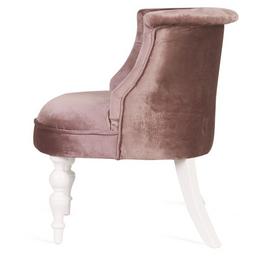 Кресло Бархат (эмаль белая / 24 - розовый) Red Black, Цвет товара: Розовый, изображение 4