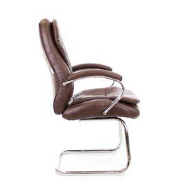 Офисное кресло для посетителей Everprof Valencia CF экокожа коричневый, Цвет товара: Коричневый, изображение 2