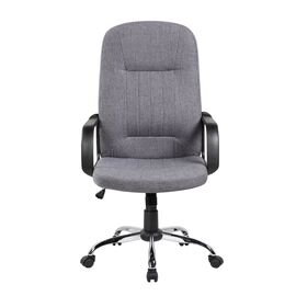 Компьютерное кресло для руководителя Riva Chair 9309-1J Серая ткань, Цвет товара: Серый, изображение 2