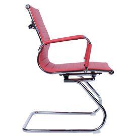 Офисное кресло для посетителей Everprof Leo CF экокожа красный, Цвет товара: Красный, изображение 4