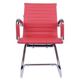 Офисное кресло для посетителей Everprof Leo CF экокожа красный, Цвет товара: Красный, изображение 5