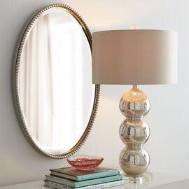 Зеркало овальное настенное в раме Globo Silver (Глобо) Art-zerkalo, изображение 2