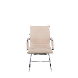 Офисное кресло для посетителей Everprof Leo CF экокожа бежевый, Цвет товара: Бежевый, изображение 5