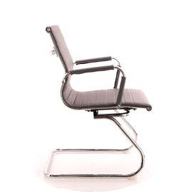 Офисное кресло для посетителей Everprof Leo CF экокожа серый, Цвет товара: Серый, изображение 4