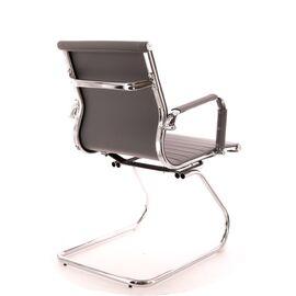 Офисное кресло для посетителей Everprof Leo CF экокожа серый, Цвет товара: Серый, изображение 5