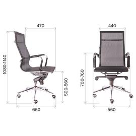 Компьютерное кресло для руководителя Everprof Opera M сетка серый, Цвет товара: Серый, изображение 2