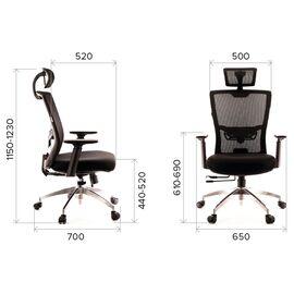 Компьютерное кресло для руководителя Everprof Polo S сетка серый, Цвет товара: Серый, изображение 2
