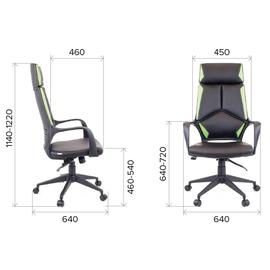 Компьютерное кресло для руководителя Everprof Trio Grey TM Ткань Зеленый, Цвет товара: Зеленый, изображение 2