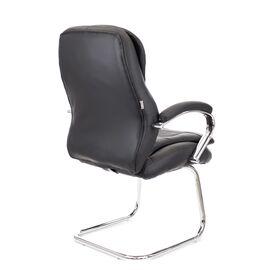 Офисное кресло для посетителей Everprof Valencia CF экокожа черный, Цвет товара: Чёрный, изображение 4