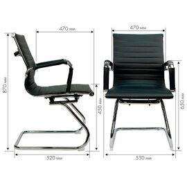 Офисное кресло для посетителей Everprof Leo CF экокожа красный, Цвет товара: Красный, изображение 2