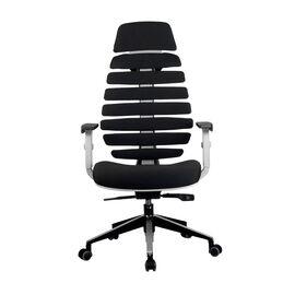 Компьютерное кресло для руководителя Riva Chair Shark Серый пластик/Чёрная ткань (26-28), изображение 2