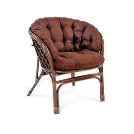 Комплект кофейный из ротанга БАГАМА 03/10 Б (S) (стол, 2 кресла, диван, подушка твил) Ecodesign, Цвет товара: Темно коричневый/Темно коричневый, изображение 4